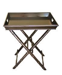 high street market black faux bamboo tray table