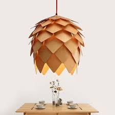 Artichoke Pendant Light Modern Handmade Diy Wood Pendant Light Pinecone Hanging Wood
