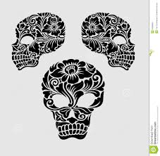 skull floral ornament decoration stock vector image 40856651