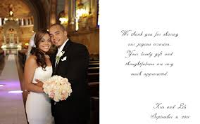 wedding thank you notes wedding photography and cinematography wedding thank you card sle