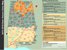 Map Of Alabama And Tennessee by Deer Season Zone Map Outdoor Alabama