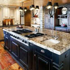 Black Rustic Kitchen Cabinets Kitchen Kitchen Decorating Ideas Island Table Corner Black
