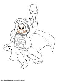free lego marvel superheroes thor coloring page printable