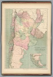Southern States Map by Southern States Of America La Plata Chile Paraguay Uraguay