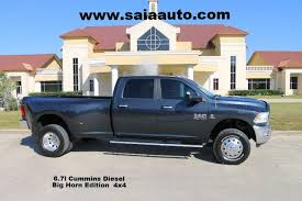 dodge trucks for sale in louisiana 2014 dodge ram 3500 crew cab 4wd 6 7 diesel slt big horn buckets