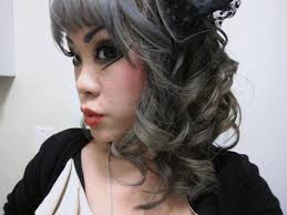 black hair with grey streaks swagg machine how to dye your hair grey