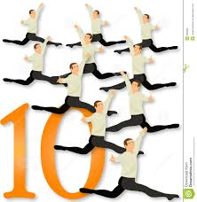 12 days of christmas 10 lords a leaping royalty free stock image