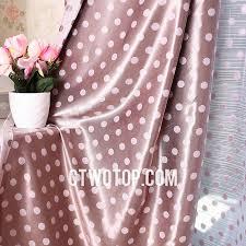 Cheap Girls Curtains Princess Girls Room Pink And Chocolate Polka Dot Curtains