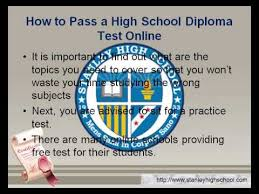 is online high school how to pass a high school diploma online