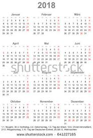 simple calendar 2018 one year glance stock vector 641227165