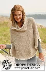 drops design poncho robin drops 133 4 free knitting patterns by drops design