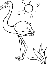flamingo coloring pages download and print flamingo coloring pages