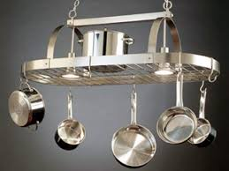 kitchen island pot rack a pot rack in its proper place hgtv