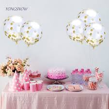 baby shower balloons 12 inch multicolor confetti balloon clear birthday balloons baby
