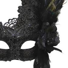 masquerade masks with feathers venetian macrame black masquerade mask with rhinestones and feathers