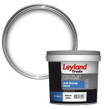 leyland trade white mid sheen anti damp paint 2 5l departments