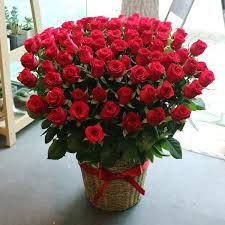 flower gift standing basket 100 premium roses flower delivery south