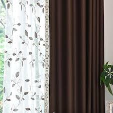 Custom Blackout Drapes Coffee Print Polyester Custom Blackout Curtains For Bedroom On Sale