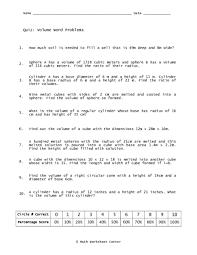 volume word problems 10th grade worksheet lesson planet