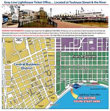 French Quarter Map New Orleans by Pontchartrain Landing
