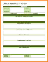 6 performance evaluation template letter format for
