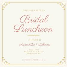 bridal luncheon invitations simple bridal luncheon invitation templates by canva