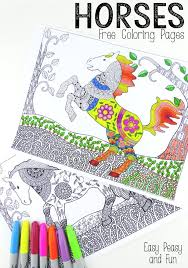 easy peasy coloring page intricate horses coloring pages for adults easy peasy adult