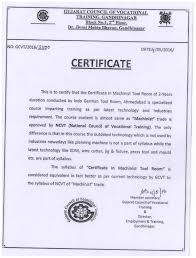 employment certificate with salary certificate in tool u0026 die making training centre certificate in