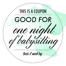 free babysitting coupon google search appreciation u0026 thinking
