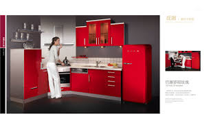 pictures of red kitchen cabinets remarkable red kitchen cabinets added red classic refrigerator and
