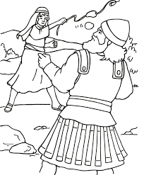 coloring sheet david and goliath and pages omeletta me