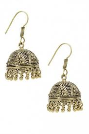 jumka earrings jhumkas earrings antique golden oxidised jhumka earrings online