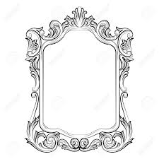 gothic mirror frame by velimea drawing