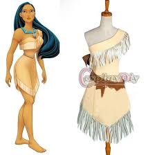 Pocahontas Halloween Costume Women Custom Pocahontas Indian Princess Dress Costume Fantasy