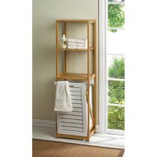 creative bathroom cabinet with built in laundry hamper home design