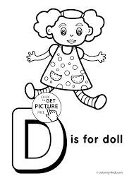 letter d coloring pages letter d coloring pages of alphabet d
