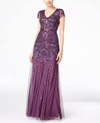 embellished dress papell cap sleeve embellished gown women macy s