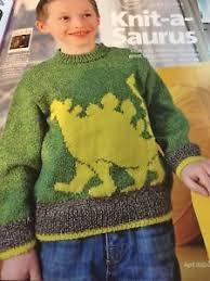 knitting pattern dinosaur jumper children s dinosaur jumper knitting pattern simply knitting 4ply ebay