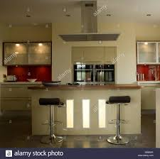 kitchen central island bar stools at central island breakfast bar in modern kitchen with