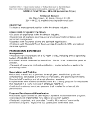 Sample Functional Resume Pdf by Sample Functional Resume American Style In Word And Pdf Formats