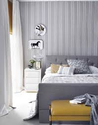 Yellow Feature Wall Bedroom Wallpaper For Walls Decor Elegant Black Bedroom Art Design With
