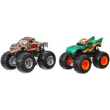monster truck race track toys wheels monster jam demolition doubles 2 pack styles may vary