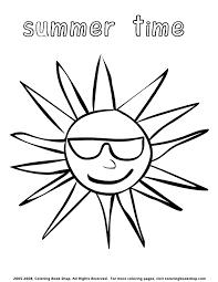 summer sun wearing sunglasses coloring