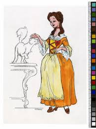 beauty and the beast concept art shows the making of a disney