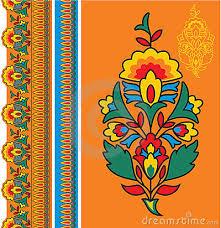 Indian Flower Design Indian Floral Border Designs