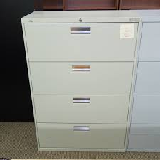 Hon 4 Drawer Lateral File Cabinet Used Hon 4 Drawer 36 Lateral File Cabinet Putty Fil1541 030