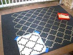 Painting An Outdoor Rug How To Make A Diy Stenciled Outdoor Rug Recipe Outdoor Rugs