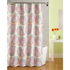 Walmart Mainstays Curtains Mainstays Print Paisley Fabric Shower Curtain Walmart Com
