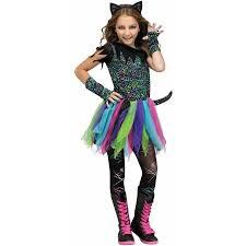 Cat Halloween Costumes Adults Fun Rainbow Cat Child Halloween Costume Walmart