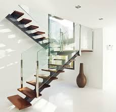 Banister Glass Interior Stair Railing Kits Decorations Trendy Brick Wall